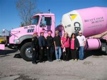 2010 cbm pink cement truck with mto and convoy organizers