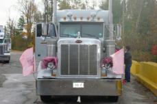 2011 convoy silver pete with hope flags on bumper markers